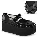 Envernizado 7 cm GRIP-01 sapatos de mulher góticos