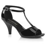 Envernizado 8 cm BELLE-371 sapatos de travesti