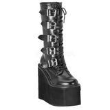 Fosco 14 cm SWING-220 plataforma botas mulher com fivelas