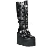 Fosco 14 cm SWING-815 plataforma botas mulher com fivelas