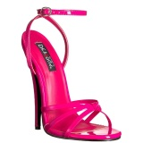 Fucsia 15 cm DOMINA-108 sapatos fetiche com salto agulha