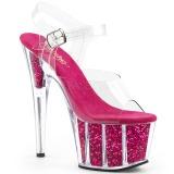 Fucsia brilho 18 cm Pleaser ADORE-708G sapatos de saltos pole dance