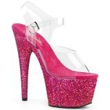 Fucsia brilho 18 cm Pleaser ADORE-708LG sapatos de saltos pole dance