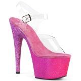 Fucsia brilho 18 cm Pleaser ADORE-708OMBRE sapatos de saltos pole dance