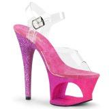 Fucsia brilho 18 cm Pleaser MOON-708OMBRE sapatos de saltos pole dance