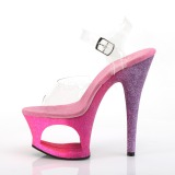 Fucsia brilho 18 cm Pleaser MOON-708OMBRE sapatos de saltos pole dance