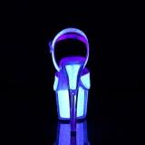 Glitter plataforma 18 cm ADORE-710UVG sandálias de saltos pole dance