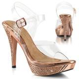 Gold Rosee 11,5 cm ELEGANT-408 salto alto - sapatos competição de fitness biquíni