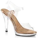 Gold Rosee 11,5 cm FLAIR-408 salto alto - sapatos competição de fitness biquíni
