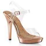 Gold Rosee 13 cm LIP-108 salto alto - sapatos competição de fitness biquíni