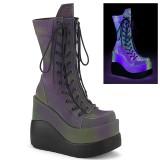 Holograma 13 cm VOID-118 demonia botas plataforma cunha