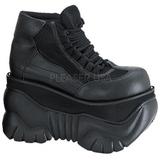 Imitacao Couro 10 cm BOXER-01 Goticas Sapatos Homem Plataforma