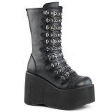 Imitação Couro 11,5 cm DEMONIA KERA-50 botas gotico com plataforma