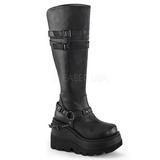 Imitação Couro 11,5 cm SHAKER-101 botas lolita gotico solas grossas