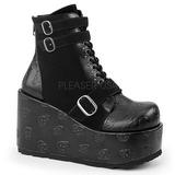 Imitação Couro 11 cm CONCORD-55 botinha de mulher plataforma góticos