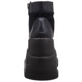 Imitação Couro 12,5 cm STOMP-10 botinha lolita gotico com cunha alto