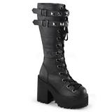 Imitação Couro 12 cm ASSAULT-202 botas lolita gotico solas grossas