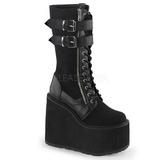 Imitação Couro 14 cm SWING-221 botas lolita gotico solas grossas