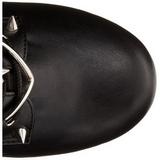 Imitação Couro 14 cm TORMENT-700 botinha de mulher plataforma góticos