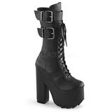 Imitação Couro 16 cm CRAMPS-202 plataforma botas mulher com fivelas