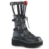 Imitação Couro 5 cm DEMONIA EMILY-355 botas plataforma góticos