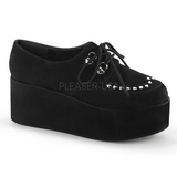Imitação Couro 7 cm GRIP-03 sapatos de mulher góticos