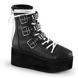 Imitação Couro 7 cm GRIP-101 botinha de mulher plataforma góticos