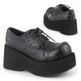 Imitação Couro 8 cm DANK-111 sapatos de mulher plataforma alternativos