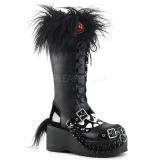 Imitação Couro 8 cm DEMONIA DOLLY-130 botas plataforma góticos