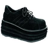 Imitacao Couro 9 cm TEMPO-08 Goticas Sapatos Homem Plataforma