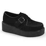Imitação Couro CREEPER-118 sapatos creepers de mulher rockabilly