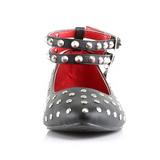 Imitação couro VAIL-04 sapatas da bailarina mulher baixos altos