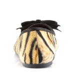 Imitação couro tigre VAIL-02 sapatas da bailarina mulher baixos altos