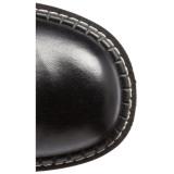 Imitação de couro 5 cm EMILY-375 bota plataforma acima do joelho