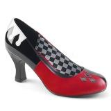 Imitação de couro 7,5 cm HARLEY-42 Pinup sapatos scarpin com saltos baixos