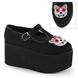 Kitty lona 8 cm CLICK-04-1 sapatos de mulher góticos
