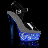 LED lampada plataforma 15 cm ECHOLITE-208 sandálias de saltos pole dance