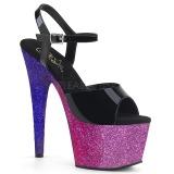 Lavanda 18 cm ADORE-709OMBRE brilho plataforma sandálias mulher
