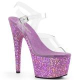 Lavanda brilho 18 cm Pleaser ADORE-708LG sapatos de saltos pole dance