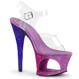 Lavanda brilho 18 cm Pleaser MOON-708OMBRE sapatos de saltos pole dance