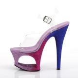 Lavanda brilho 18 cm Pleaser MOON-708OMBRE sapatos de saltos pole dance