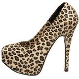 Leopardo 14,5 cm Burlesque TEEZE-35 calçados femininos com salto alto