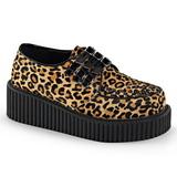 Leopardo 5 cm CREEPER-112 sapatos creepers mulher com solas grossas