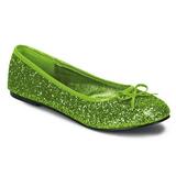 Limão STAR-16G brilho sapatas da bailarina mulher baixos altos