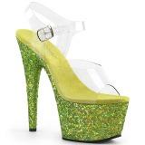 Limão brilho 18 cm Pleaser ADORE-708LG sapatos de saltos pole dance