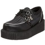 Listrado 5 cm CREEPER-113 sapatos creepers mulher