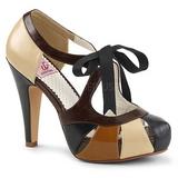 Marrom 11,5 cm BETTIE-19 calçados femininos com salto alto