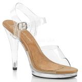 Marrom 11,5 cm FLAIR-408 sapatos de travesti