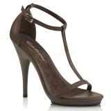 Marrom 12,5 cm Fabulicious POISE-526 sandálias de salto alto mulher