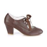 Marrom 6,5 cm WIGGLE-32 retro vintage sapatos maryjane com salto grosso